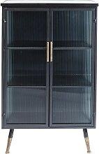 Vitrine industrielle 2 portes en acier et verre