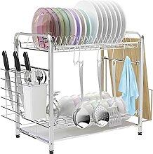 VLikeze Égouttoir à vaisselle en acier