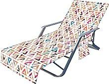 VNFWLDM Couverture De Chaise De Plage, avec Poches