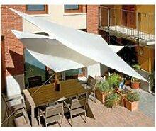 Voile d'ombrage triangulaire écrue 5 m