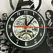 Voiture Logo Disque Vinyle Horloge Murale Design