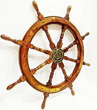 Volant de bateau de capitaine pirate en bois 91,4