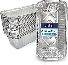 volila Barquettes en Aluminium jetables pour