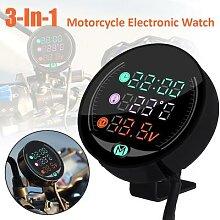 Voltmètre de moto étanche 12/24V, Vision