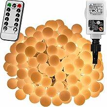 Voltronic® Guirlande Lumineuse Boules LED, Blanc