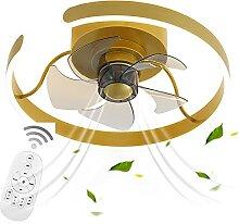 VOMI Fan Plafonnier Télécommande 3 Vitesses, LED