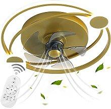 VOMI Lampe de Plafond avec Ventilateur Silencieux