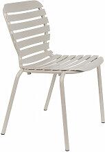 VONDEL - Chaise de jardin en aluminium Argile