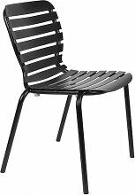 VONDEL - Chaise de jardin en aluminium noir