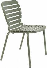 VONDEL - Chaise de jardin en aluminium vert