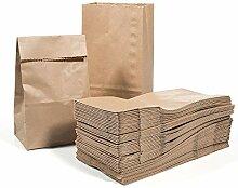Vordas 100 Sacs en Papier Marron 17 x 9 x 5 cm -