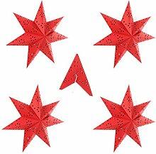 VOSAREA 5Pcs Papier Étoile Lanterne Abat-Jour