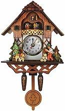 VOSAREA Horloge murale en bois, coucou antique