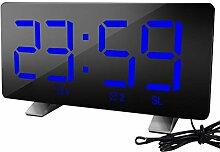 Vosarea réveil numérique USB Charge LED Horloge