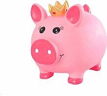 VOSAREA Tirelire cochon en plastique rose petite