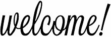 Vosarea Welcome Sticker Mural PVC Lettres