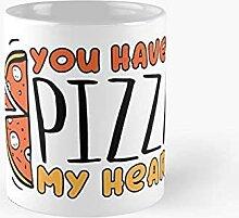 Vous avez une pizza mon coeur Mug classique