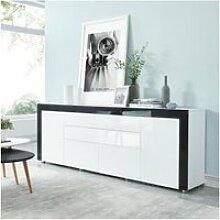 Vox buffet contemporain laqué blanc et noir