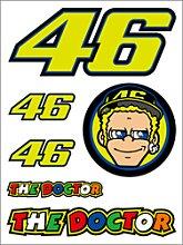 VR46 Racing Apparel Classic, Sticker set petit -
