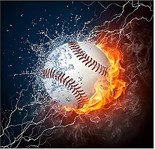 Vspgyf Iced and Fire Football Affiche Wall Art