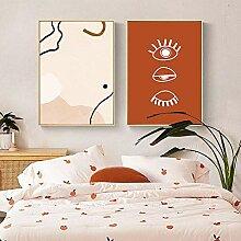 VUSMH Abstrait Wall Art Boho Wall Art Affiche