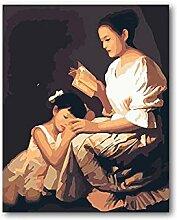 VUSMH Mère et Fille Lecture Affiche rétro