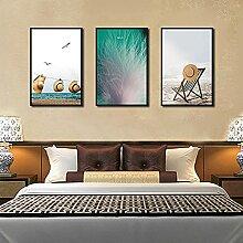 VUSMH Plage Affiche Impression Bord de mer Wall