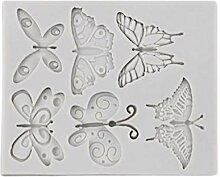 VVXXMO Moule en silicone en forme de papillons,