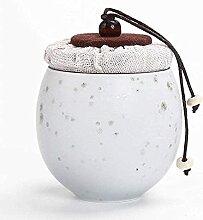 VWJFHIS Boîtes à thé en céramique, Boîtes de