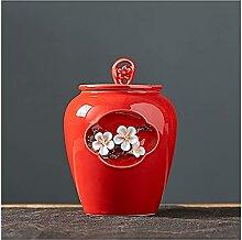 VWJFHIS Boîtes de thé en Porcelaine Blanche,