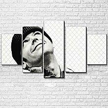 VYQDTNR XXL 5 Pièces Toile Art Mural 3D Imprimé