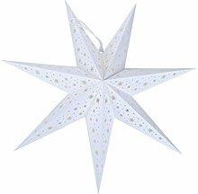 Wakauto Noël 7 Branches Étoile Papier Lanterne