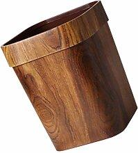 Wakauto Petite poubelle carrée en bois pour salle