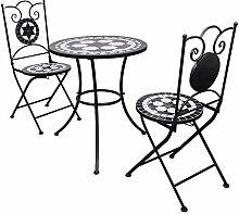 Wakects Ensemble de bistrot, table en mosaïque