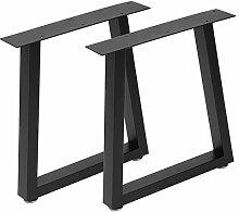 Wakects Lot de 2 pieds de table modernes - En fer