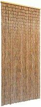 Wakects Rideau de porte en bambou moustiquaire