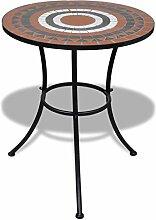 Wakects Table en céramique avec mosaïque, table