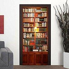 Wallflexi Porte Vintage Bibliothèque Décoration