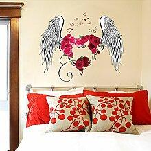 Wallpark Amour Cœur Rouge Rose Fleurs Plume Amour