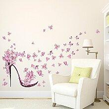 Wallpark Beau Rose Papillon Fleur À Haut Talon