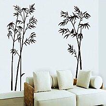 Wallpark Classique Noir Bambou Amovible Stickers