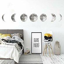 Wallpark Phase de Lune Amovible Stickers Muraux