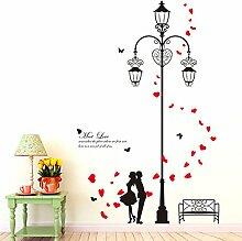 Wallpark Romantique Amoureux dans Rétro Rue Light