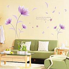 Wallpark Romantique Beau Violet Fleur dans Le Vent