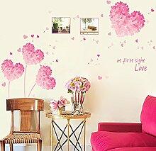 Wallpark Romantique Rose Amour Cœur Fleur Cadre
