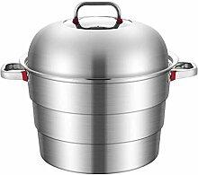 WALNUTA 3 niveaux en acier inoxydable Pot à