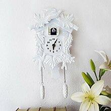 Walplus Blanc Élégant Horloge Coucou Décoration
