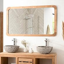 Wanda Collection - Grand miroir teck rétro 120 x