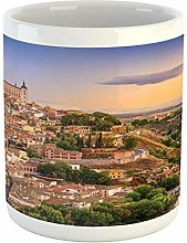 Wanderlust Mug, Toledo Spain Old City over the