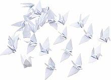 WANDIC Lot de 100 grues en papier origami pliées